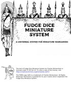 Fudge Dice Miniature System