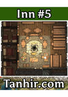 Inn 5 - A generic inn map to use in any fantasy VTT campaign