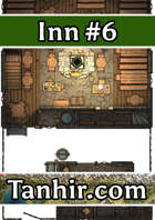 Inn 6 - A generic inn map to use in any fantasy VTT campaign