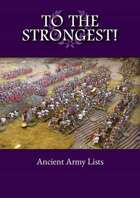 To the Strongest! Ancient Army List eBook