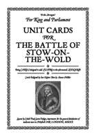 Battle of Stow-on-the-Wold Unit Cards
