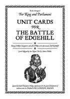 Battle of Edgehill Unit Cards