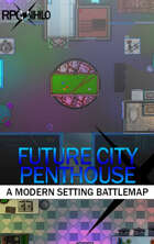 Future City Penthouse (16x36) Modern Battle Map