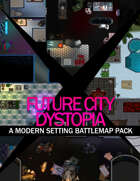 Future City Dystopia Modern Battle Map Pack [BUNDLE]