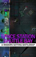 Space Station Shuttle Bay (19x12) Modern Battle Map