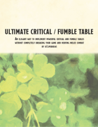 Ultimate Critical/Fumble Table