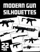 Modern Gun silhouettes