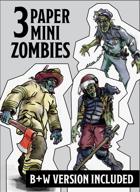 Miniature Paper Zombies