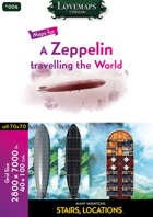 Cthulhu Maps - 004 - A Zeppelin travelling the World