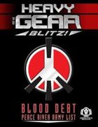 Heavy Gear Blitz! Blood Debt - Peace River Army List