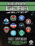 Heavy Gear Blitz! 3rd Edition Rules - Force Compendium