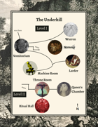 Underhill: Blood Queen of the Trow (a MÖRK BORG dungeon)