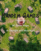 96 Printable Battle Maps in Daylight and Moonlight