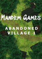 Abandoned Village 1 - Printable Battle Maps in Daylight and Moonlight