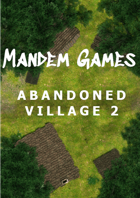 Abandoned Village 2 - Printable Battle Maps in Daylight and Moonlight