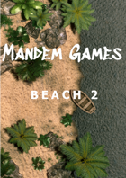 Beach 2 - Printable Battle Maps in Daylight and Moonlight