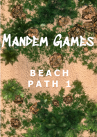 Beach Path 1 - Printable Battle Maps in Daylight and Moonlight