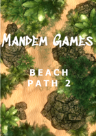 Beach Path 2 - Printable Battle Maps in Daylight and Moonlight
