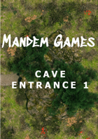 Cave Entrance 1 - Printable Battle Maps in Daylight and Moonlight