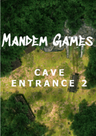 Cave Entrance 2 - Printable Battle Maps in Daylight and Moonlight