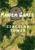 Circular Tower - Printable Battle Maps in Daylight and Moonlight