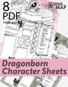Character Sheets -Dragonborn (portrait)
