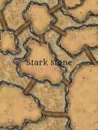 Stark stone desert city