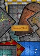 Dungeon Tiles 1  - Print & Paste