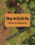 Free maps Village dnd Battle Map tabletop role playing games.