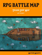 Fantasy RPG Battle Map - Trade Ship Battle Map Day and Night - Top Down Battle Map