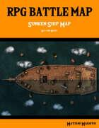 Fantasy RPG Battle Map - Sunken Ship Battle Map Day and Night - Top Down Battle Map