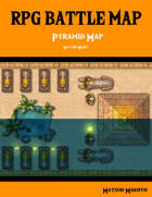 Fantasy RPG Battle Map - Desert Pyramid Battle Map Day and Night - Top Down Battle Map