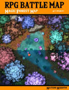 Fantasy RPG Battle Map - Magic Forest Battle Map Day and Night - Top Down Battle Map