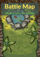 Battle Map 30x40: Sacred well of water in the forest
