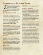 Stormbreaker Optional Ruleset for 5E