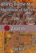 40x30 Fantasy Battle Map - The House of Secrets Pack 1