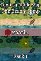 40x30 Fantasy Battle Map - The Beach Camp Pack 1