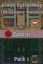 40x30 Fantasy Battle Map - The Vampire Mansion Pack 1