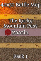40x30 Fantasy Battle Map - The Rocky Mountain Pass Pack 1