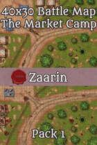 40x30 Fantasy Battle Map - The Market Camp Pack 1
