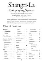 Shangri-La Roleplaying System