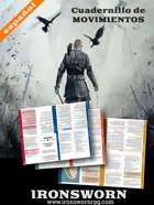 Ironsworn: Tarjetas de viaje -español-  Formato BookLet (cuadernillo)