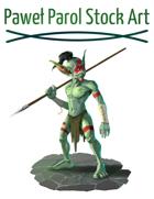 Goblin Spearman - RPG Stock Art