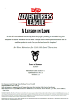 DDAL07-11 A Lesson in Love (5e)