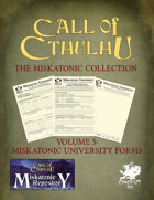 The Miskatonic Collection – Volume 5 – Miskatonic University