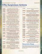 50 Auspicious Actions