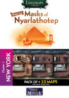 Cthulhu Maps - Masks of Nyarlathotep - ch1 - New York Pack