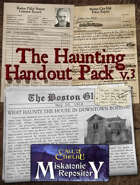 The Haunting Handout Pack