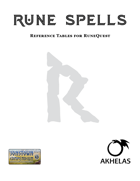 Rune Spell Reference Tables