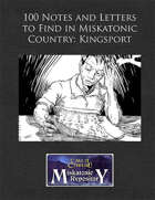 100 Notes and Letters to Find in Miskatonic Country: Kingsport